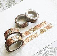 Papier - dekoračná papierová páska Vintage ruže - 10410327_