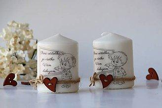 Svietidlá a sviečky - Duo dekoračných sviečok pre pani učiteľky - 10413493_
