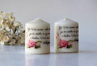 Svietidlá a sviečky - Duo dekoračných sviečok pre pani učiteľky - 10413514_