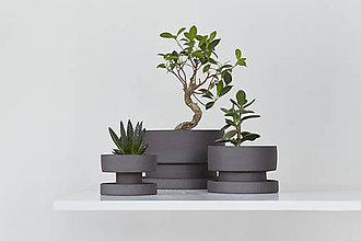 Nádoby - set keramických kvetináčov - 10413951_