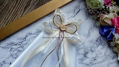 Pierka - Vintage smotanové pierko s kapesníkom pre starejšieho - 10410429_