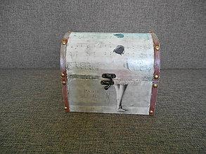 Krabičky - Drevená šperkovnica - antique - 10410293_