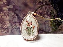 Dekorácie - tulipány vo vajíčku - 10413569_