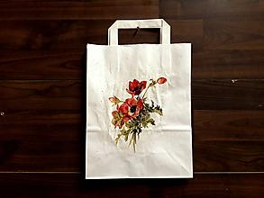 Iné tašky - darčeková taška vlčie maky - 10413261_