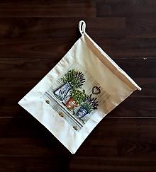 Úžitkový textil - Vrecúško bylinková záhrada - 10413480_