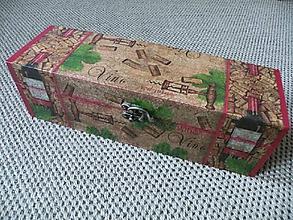 Iné - Krabice na víno - korek a víno - 10412494_