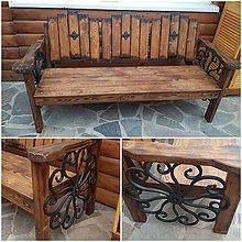 Nábytok - Drevena rustikalna lavica 170cm - 10410425_