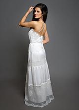 Šaty - Svadobné plážové romantické šaty v boho štýle - 10412833_
