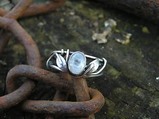 975f71f7a Strieborny prsteň Ag 925 Mesačný kameň / Icus - SAShE.sk - Handmade ...
