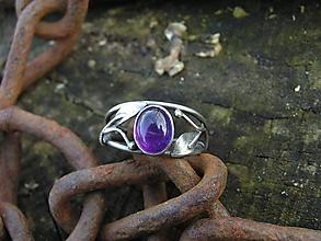 Prstene - Strieborny prsteň Ag 925 Ametyst - 10410911_