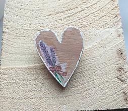 Odznaky/Brošne - Lavenderka. drevená brošňa - 10412471_