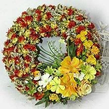 Dekorácie - Jarní věneček - Sasanky - 10410440_