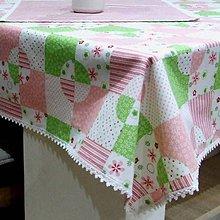 Úžitkový textil - Veľkonočný set obrusov (2) - jarné kvietky v štvorcoch - 10413299_