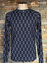 Oblečenie - Termo tričko pánske čierno biele - 10410254_