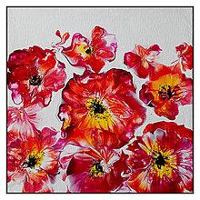 Obrazy - Kvety červené - 10411239_