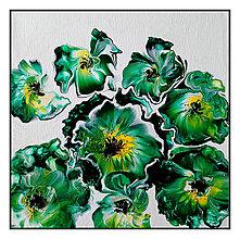 Obrazy - Kvety zelené - 10411270_