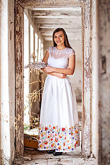 Sukne - Dámska sukňa dlhá  Lúčne kvety - 10410600_