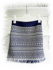 Sukne - Zimná sukňa - norský vzor 3 - 10410479_