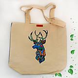Nákupné tašky - EKO nákupná taška - Jeleň - 10410235_
