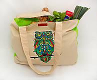 Nákupné tašky - EKO nákupná taška - Sova - 10410238_