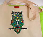 Nákupné tašky - EKO nákupná taška - Sova - 10410239_