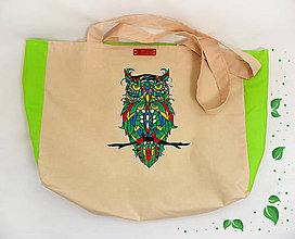 Nákupné tašky - EKO nákupná taška - Sova - 10410240_