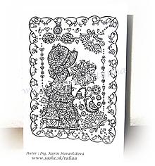 Papiernictvo - VYFARBI MA ♥ pohľadnica DIEVČATKO - 10414057_