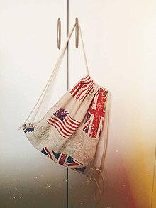 Iné tašky - Red&blue Flags - 10413638_