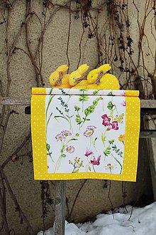 Úžitkový textil - Jarná lúka SKLADOM (Žltá) - 10413946_