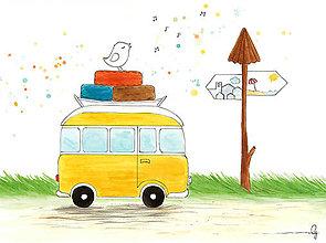 Obrázky - Ide sa na výlet! Obrázok na stenu - 10410785_