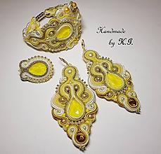 Sady šperkov - Zlato - žltá šujtášová sada - 10410874_