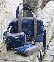 Veľké tašky - Na cesty s modrotlačou 2 - 10411366_