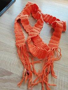 Opasky - oranžový opasok - 10411771_
