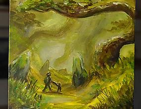 Obrazy - • Lesnou cestičkou • /maľba akrylom/ - 10413258_