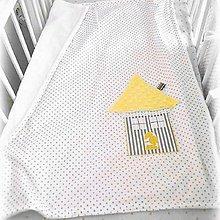 Textil - Letná deka Basic s domčekom 70x90cm - 10416818_