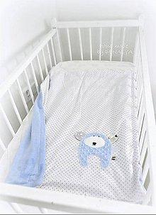Textil - Letná deka Basic s mackom 70x90cm - 10416820_