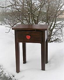 Nábytok - zaľúbený stolček - 10414811_