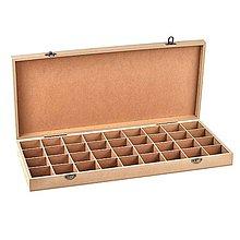 Polotovary - Krabička z MDF, 36 priečinkov, 48,5x22 cm - 10414527_