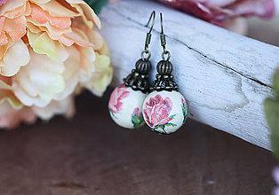 Náušnice - Náušnice - Romantic Rose - 10414319_