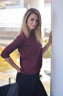 Tričká - Tričko v jemném proužku-vyber si svou barvu! - 10416718_