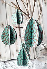 Dekorácie - Veľkonočná dekorácia - Vajíčko ( 9 ks ) - 10415531_