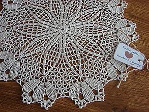 """Úžitkový textil - háčkovaný obrúsok """"Al Nair"""" - 10415968_"""