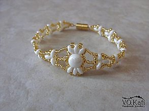 Náramky - Ivie - zlato-biely náramok - 10417539_