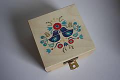 Prstene - Svadobná krabička na prstene - vtáčiky - 10417307_