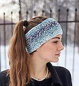 Čiapky - Modro-biela čelenka - 10414565_