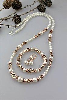 Sady šperkov - Súprava perly swarovski a hematit