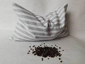 Úžitkový textil - Pohánkový vankúšik s obliečkou - 10414411_