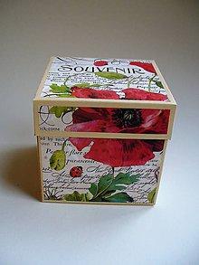 Krabičky - poppy darčeková (10x10x10cm) - 10414864_
