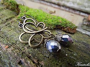 Náušnice - Zimný motýľ......(darček k nákupu) - 10415439_
