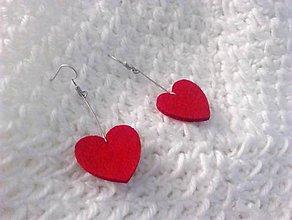 Náušnice - srdiečkové valentínske náušnice - 10415135_